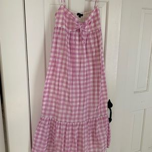 Pink & White Gingham sundress